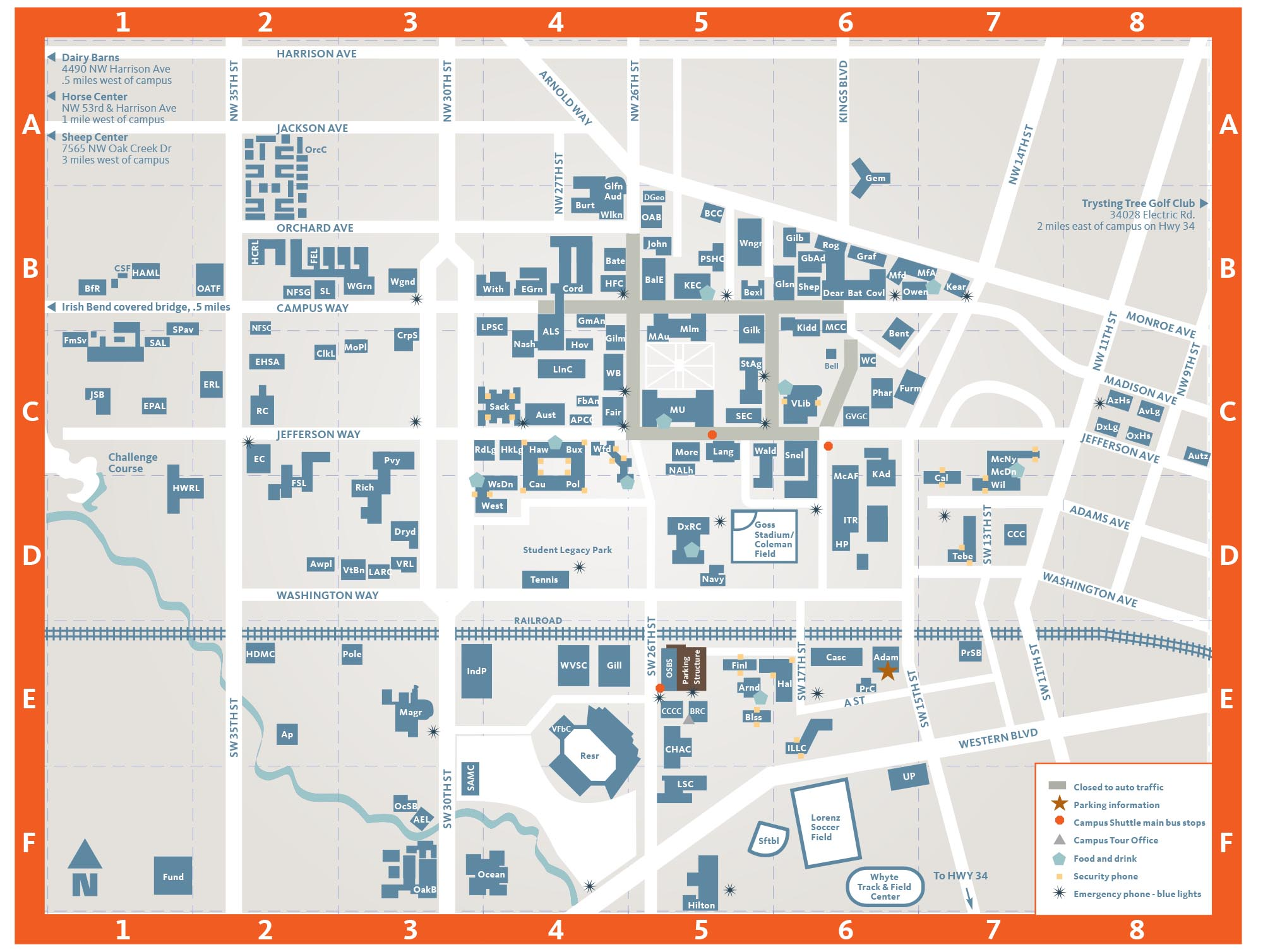 Oregon State University Campus Map Campus | Oregon State University Visitors Guide